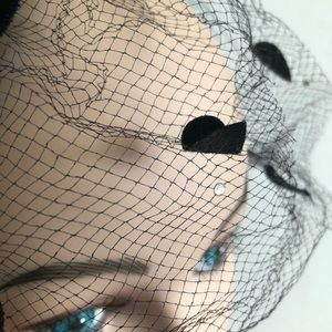 Vintage Accessories - Vintage 1950s Hat Net Fascinator Pinup Rockabilly